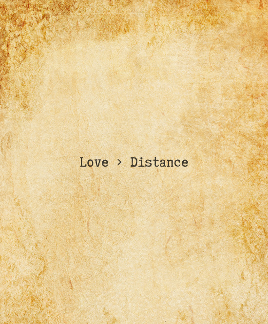 Love > distance. Long distance relationship LDR quote. Valentines Day Love Quotes